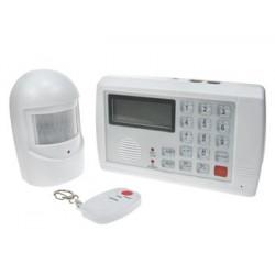 Conjunto de sistema de seguridad sin hilo ham1000ws central + 1 detector volumetrico +1 teledirige