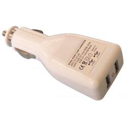 Cargador adaptador alimentacion 12v 5v usb doble toma de mechero coche mp3 ipod hq p.sup.usb201