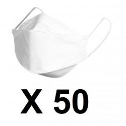 50 Masque KN95 N95 bouche Filtration Coton kf94 Filtre securite covid-19 coronavirus