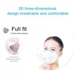 Masque facial kn95 avec valve efficace 95% antipoussière PM 2.5 bouche respiratoire KF94 TSLM1