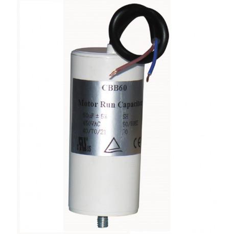 Wire capacitor 50 mf micro farad 400v 450v 500v start universal motorjumper cable gate motorization w9 11250