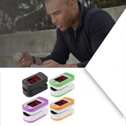 Oxímetro de dedo portátil Pulso de la yema del dedo apagado de la pantalla LED Dispositivo de cuidado de la salud del oxímetro