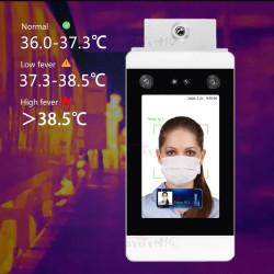 IR Infrared Face Recognition Temperature Measurement System Non-Contact Body Thermometer Thermal Camera