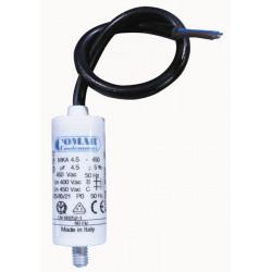 Condensador alambrico 4.5 mf micro farad 250v cable arranque motor motorizacion portico
