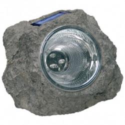 Eclairage de jardin energie solaire caillou lumiere lampe 3 led ra-5000154 ranex
