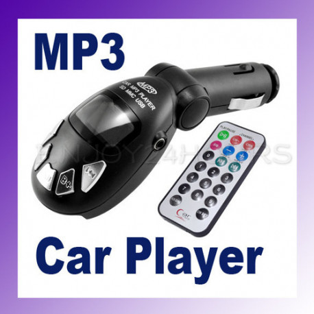 Fm transmitter mp3-funksender funk-kfz-remote-key-usb sd / mmc 9999