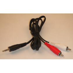Jack stecker 3.5mm stereo 2x stecker rca 1.2m schnur 1m20 stecker 3.5 nach 2 jack buchse sono avw02