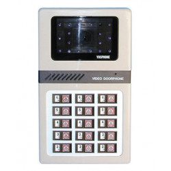 Intercom b w surface mounting camera panels for 15 apartments apartment video doorphone system video doorphone entry systems dig