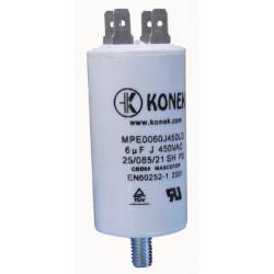 Condensador 6mf 6 micro farad 450v 50 60 hz condensador de arranque motor universal a borne w1 11006
