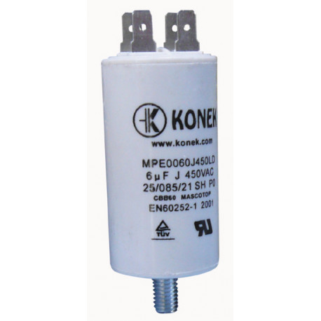 Capacitor 6mf 6 micro farad 450v 50 60 hz universal motor start capacitor with terminal w1 11006