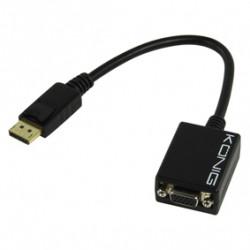 Display port kabel displayport stecker auf buchse vga kabel 15p 573 0,2 0,2 ??m konig