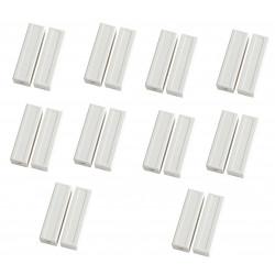 10 capteurs detecteur ouverture magnetique contacteur alarme contact no saillie creme bs-2033a blanc