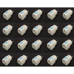 20 Adaptadores electricos clavija europea hacia clavija inglesa adaptadores 16a 250vca electricos convertidor