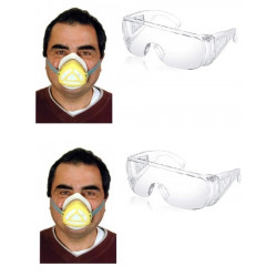 2 Gas mask protection high filtration protections np22 respirators safety masks gas