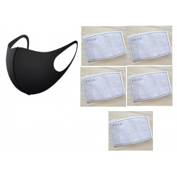 Anti Dust Breathing Mouth Mask + 5 Anti-fog Prevent Dust Haze PM2.5 Face Facial Cover Outdoor Protection Washable Reusable
