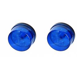 2 Flash alarma electronico xenon azul 12vcc ø70x44mm haa40b flashs alarmas electronicas azules
