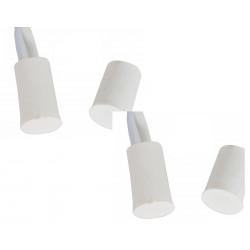 2 Contact nf encastre 10mm blanc ouverture detecteur capteur magnetique pour alarme