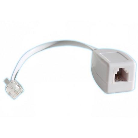 200 X Rj11 telefonleitung überspannungsschutz wie ein fax / modem / adsl überspannungsableiter 3ka phone
