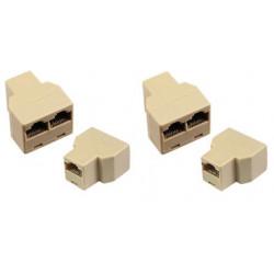 2 Rj45 splitter 1 2 ethernet network connecter