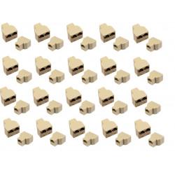 20 Rj45 splitter 1 2 ethernet network connecter