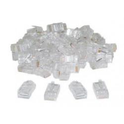 20 fiches rj45 plug cristal 8p/8c reseau télephonique internet plug lan connecteur etherne