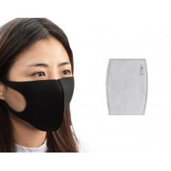 Masque respiratoire lavable reutilisable + 1 filtre 5 couches mrlavf anti poussiere pollution