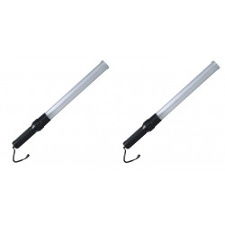 2 Traffic police baton white lightingtraffic 21-inch Roadside Safety LED Traffic Wand Baton led safety reflective warning