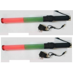 2 Baton lumineux rechargeable led vert rouge Eclairage circulation route aeroport train signalisation