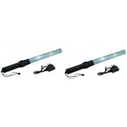 2 Baton lumineux blanc batterie rechargeable et chargeur route circulation voiture automobile avion