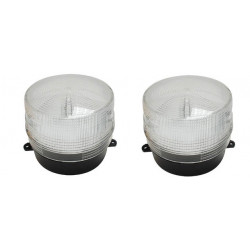 2 Flash alarma electronico xenon blanco 12v ø100x80mm haa100w flashs alarmas blancas