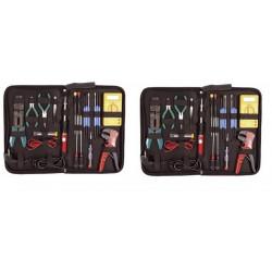 2 X 19pcs kit di ferro saldatore di taglio pinze a crimpare conducente metro strip / tester vtset26