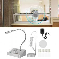 Interphone fenetre guichet de banque station essence poste de base microphone 110V 220v