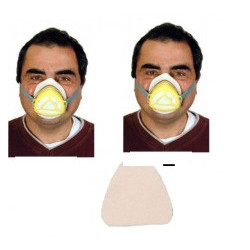 2 Gas mask protection mr + 50 filter mrc high filtration protections np22 respirators safety masks gas