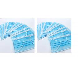 20 Masques antipollution protection respiratoire a lanieres usage unique 3 couches Housse anti-poussière