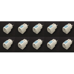 10 Adaptadores electricos clavija europea hacia clavija inglesa adaptadores 16a 250vca electricos convertidor