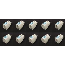 10 Reiseadapter stromversorgungsadapter adapter euro stecker englischer stecker elektrischer adapter 16a 250vac elektrischer ada