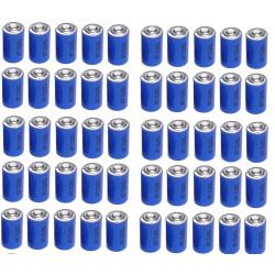 50 x 3.6v 1200mah lithium battery 1/2 aa tl5902 tl5151 tl5101 tl4902 ls14250 14250 ls tl sl750 sl350 lct1200