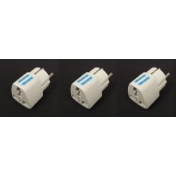 3 adaptadores electricos clavija europea hacia clavija inglesa adaptadores 16a 250vca electricos convertidor