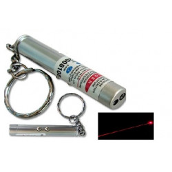 Pack of 100 2in1 red laser pointer w led keychain torch flashlight