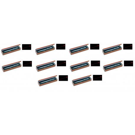 10 Ballpoint pen red laser pointer electronics lazer beam white led lamp (3 in 1) 143.1651