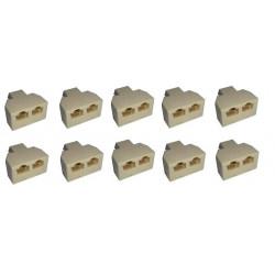 10 Rj45 splitter 1 2 ethernet network connecter