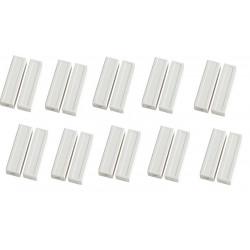 10 Contatto magnetico sporgente color crema detettore aperture