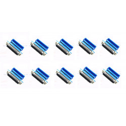 10 X DB25 25 Pin Female Parallel IDC Crimp Connector for Flat Ribbon Cable