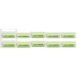 10 Batterie rechargeable 2/3AAA ni-mh 400mAh 1.2v Classe énergétique A++ nimh avec cosse a souder