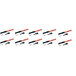 10 Baton lumineux GM torche rechargeable rouge signalisation police route circulation voiture avion