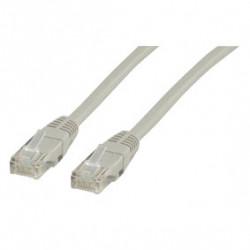 Rj45 patch cable cat6 20.0 m grey