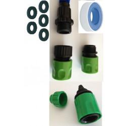 Adattatore di estensione gardena © 5 o tubo da giardino rubinetto kit x teflon tubo di collegamento estensibile
