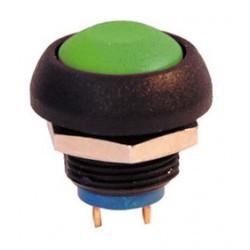 Bouton poussoir electrique unipolaire etanche ip67 vert no COAPISR3SAD300 APEM ISR3SAD300