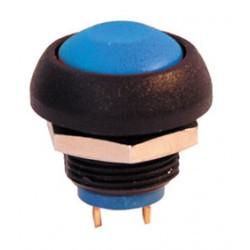 Bouton poussoir electrique unipolaire etanche ip67 bleu no COAPISR3SAD100 APEM ISR3SAD100