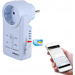 GSM socket with socket outlet socket outlet with temperature sensor SMS control